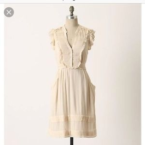Odille Anthropologie All Seasons Off-white Dress 6